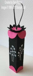 Gift box upright