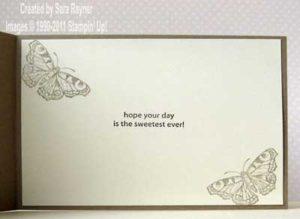 butterfly card insert