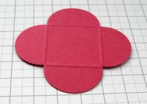 embossed petal card