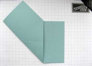 spring card - diagonal folds