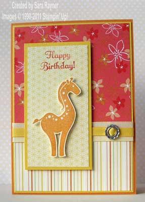 sunny giraffe card