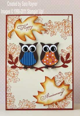 autumnal anniversary card
