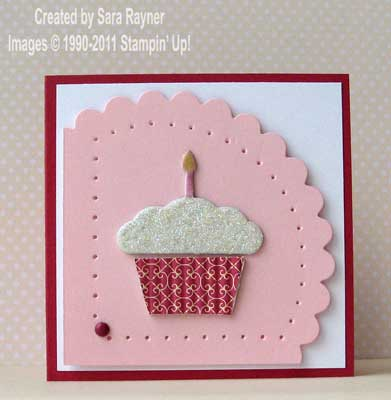 chipboard cupcake birthday card