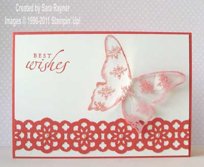 Faux glass butterfly card