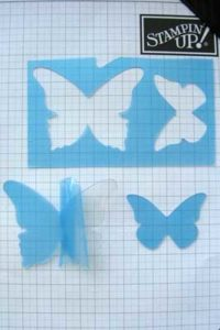 butterflies die cut from window sheet