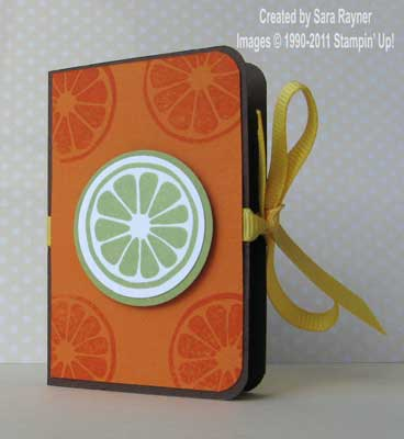 orange tic tac holder - closed