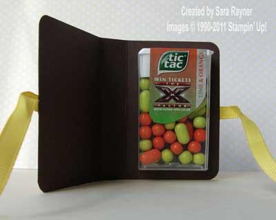 orange tic tac holder - open