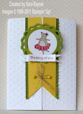 dancing bear card - closed