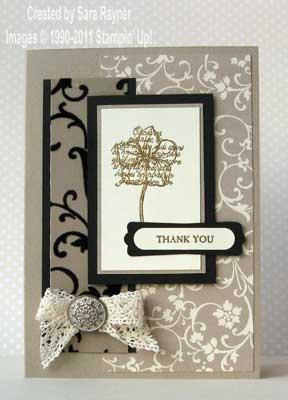 elegant thank you card