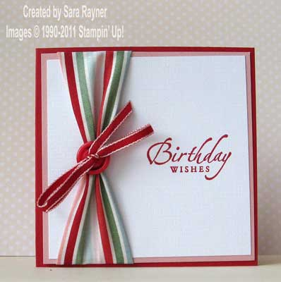 fabric ribbon card