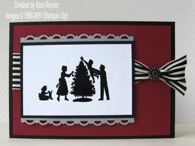 embossed christmas card