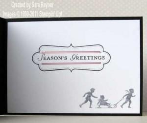 embossed christmas card - inside