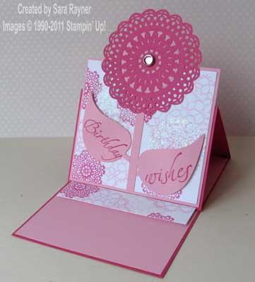 pink girlie easel card