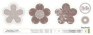 posy punch stamp set