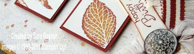 french foliage card - close up