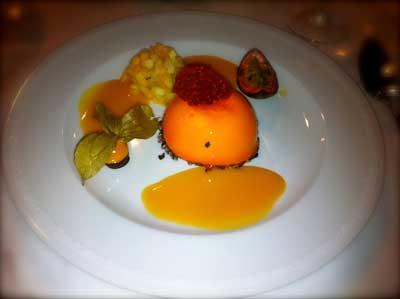 dessert at gala dinner