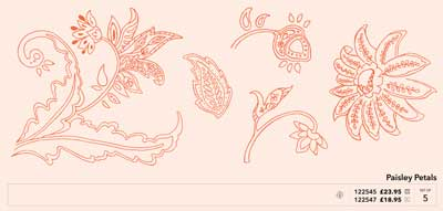 Paisley Petals stamp set