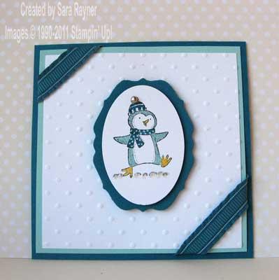polar party penguin card