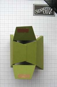 petal cone die box - step 6