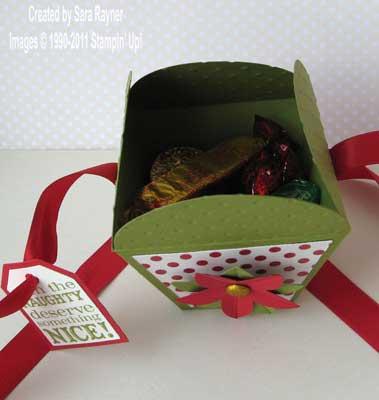 petal cone die box - opened up