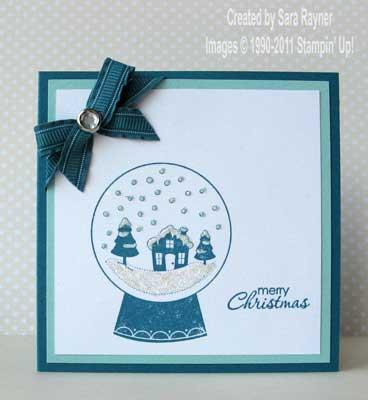 snowglobe xmas card