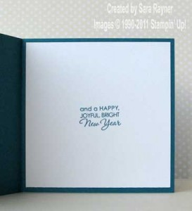 snowglobe xmas card - inside