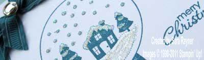 snowglobe xmas card - close up