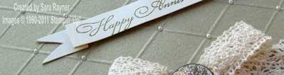 wedding anniversary card close up