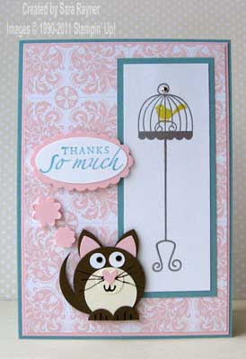 cheeky cat thank you card