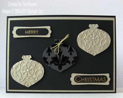 black and gold xmas card