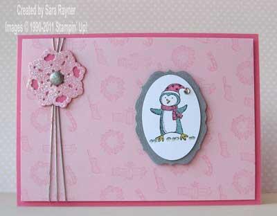 girlie penguin card