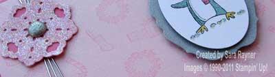 girlie penguin card close up