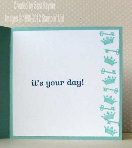 elegant birthday card inside