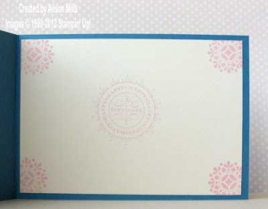 blue blossom card inside