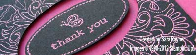 embossed thank you close up