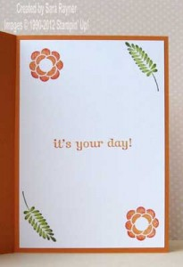 array flower card inside