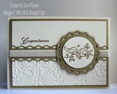 elegant engagement card