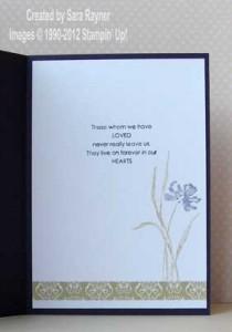 sympathy card inside