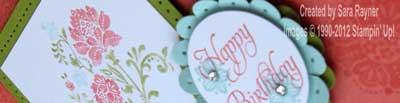 fresh vintage birthday card close up