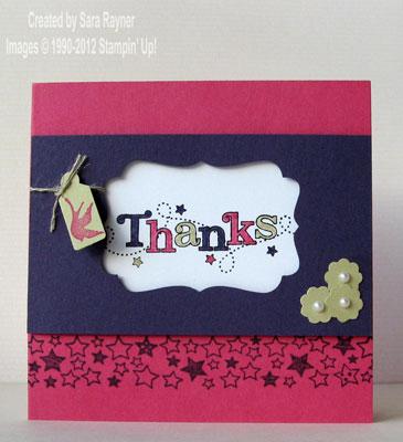 March batch thank you card