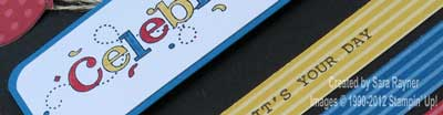 celebrate card close up