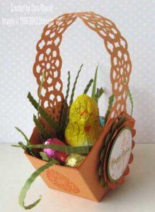 easter basket inside