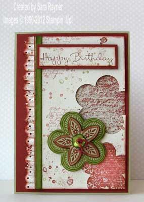 foliage birthday card