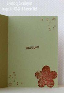 foliage birthday card inside