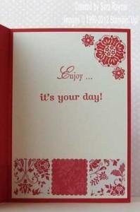 quilt card inside