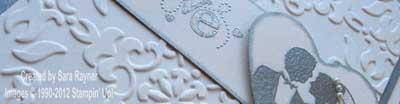 wedding card close up