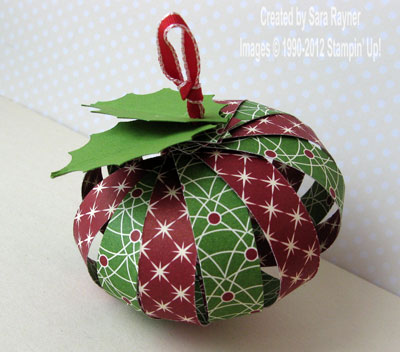 paper bauble sara s crafting and stamping studio