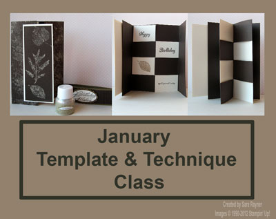 Template & Technique Class January