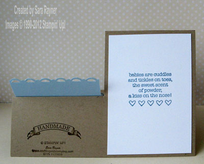 baby card back