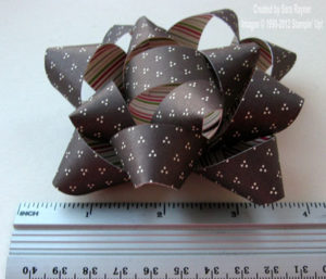 paper bow size